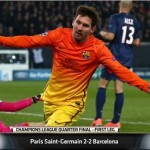 Paris Saint-Germain grabbed a late lifeline through Blaise Matuidi's equaliser deep into stoppage time to earn a 2-2 draw in their Champions League quarter final. Messi's magic wasn't enough to secure a win.