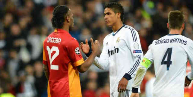 Raphael Varane stayed on Drogba for the whole match and shows big respect for him