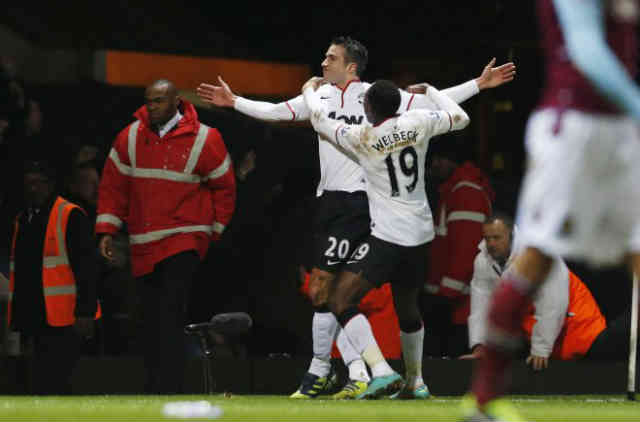 Robin Van Persie managed to save Manchester United as they were a goal down