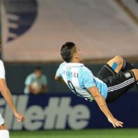 Sebastian Driussi of Argentina scored a magical goal in a U17 match against Uruguay.
