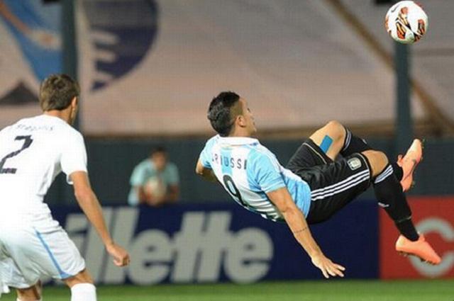 Sebastian Driussi of Argentina scored a magical goal in a U17 match against Uruguay.
