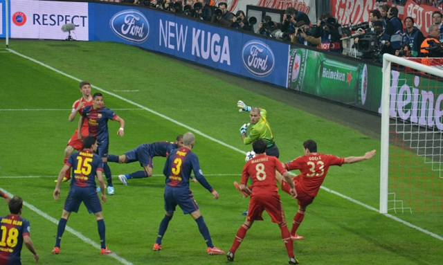 The Goal from Mario Gomez (Bayern Munich) in the 49th minute of the second half.