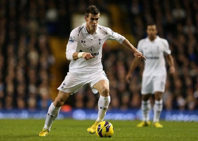 Tottenham's Gareth Bale in full flight