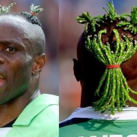 Whats is happening on the top of Taribo West's head