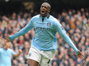 Gnégnéri Yaya Touré (born 13 May 1983), commonly known as Yaya Touré, is an Ivorian footballer who plays primarily as a midfielder for the Côte d'Ivoire national team and is the Vice-Captain of Premier League club Manchester City. Touré is renowned for combining great vision, passing ability, and physical power with technique. A versatile player, he aspired to be a striker during his youth and has played centre back, including for FC Barcelona in the 2009 UEFA Champions League Final. He frequently plays as a box-to-box midfielder for club and country and often switches from defensive and offensive positions throughout matches. Touré began his playing career at Ivorian club ASEC Mimosas, where he made his debut aged 18. He was voted African Footballer of the Year for 2011 and 2012. His performances attracted attention from Europe, playing for clubs in minor European leagues. Touré played for Beveren in Belgium, Metalurh Donetsk in Ukraine, Olympiacos in Greece, and AS Monaco in France. In 2007, Touré moved to Barcelona, playing over 100 matches for the club and was part of the historic 2009 Barcelona team which won six trophies in one calendar year. Touré then moved to Premier League club Manchester City in 2010, where he has since scored a number of key goals for the Citizens, most notably the only goals in the 2011 FA Cup semi-final and Final. Touré has a distinguished international career with 74 caps for Côte d'Ivoire, representing the team in their first appearance in a FIFA World Cup, in the 2006 competition and in 2010. He is the younger brother of his Côte d'Ivoire and Manchester City teammate Kolo Touré.