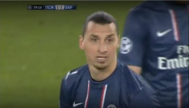 Zlatan Ibrahimović for the first Parisian goal was offside, says Barcelona