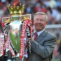 Sir Alex Ferguson celebrates another EPL title