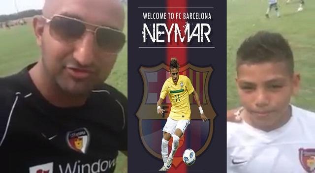 Barcelona, Neymar, Messi and Cristiano Ronaldo all discussed by Neymar look alike.