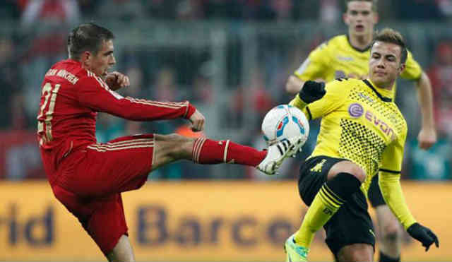 Bayern and Dortmund ended with a draw