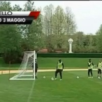 Balotelli pings balls at old man in golf cart
