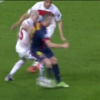 "Over 8 minutes of some of best dribbling skills performed by Andres Iniesta, ""the dribbling magician""."