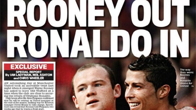 Premier League - Paper Round, Rooney out, Ronaldo in for United