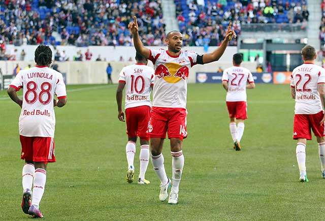 Thierry Henry enjoys a huge salary at New York Red Bulls
