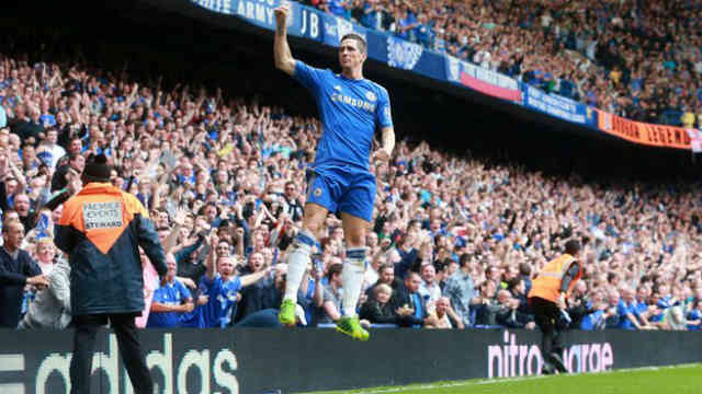 Torres brings Chelsea their win and celebrates