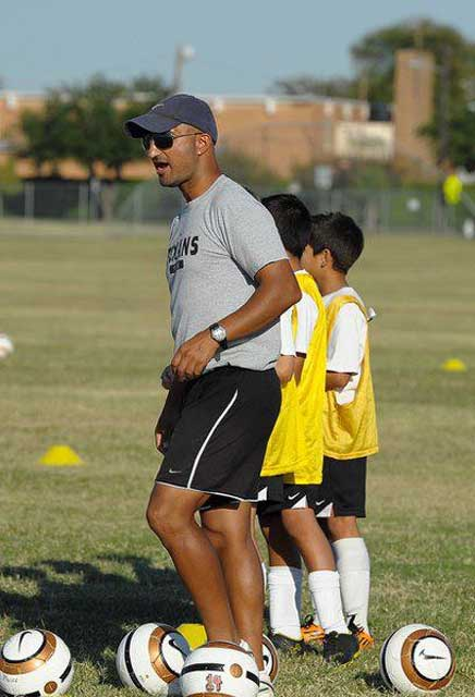 Ali Sadjady coaching at the academy