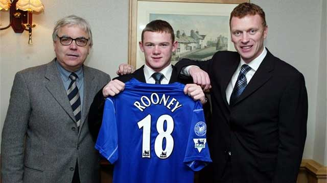 Wayne Rooney signing with Moyes at 16 Years of age