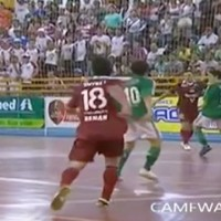 VIDEO: Falcão & Renan combine for stunning futsal goal.