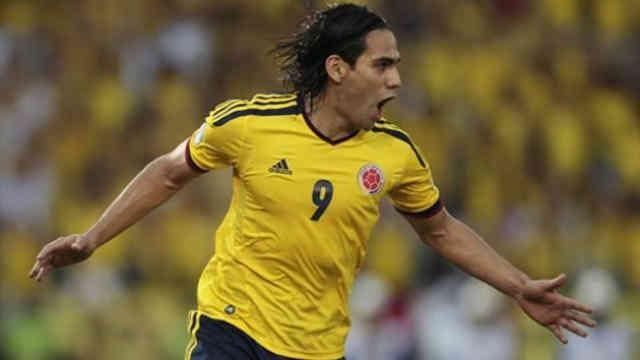 Falcao celebrates his goal