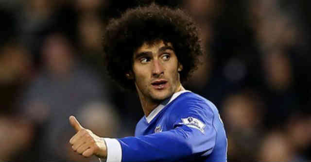 Marouane Fellaini from Everton has been showed favour by Arsenal