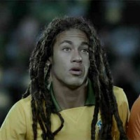 Neymar in once of the adverts for VW as he has become the new icon