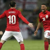 Rooney and the Oxlade Chamberlain celebrate their amazing goals