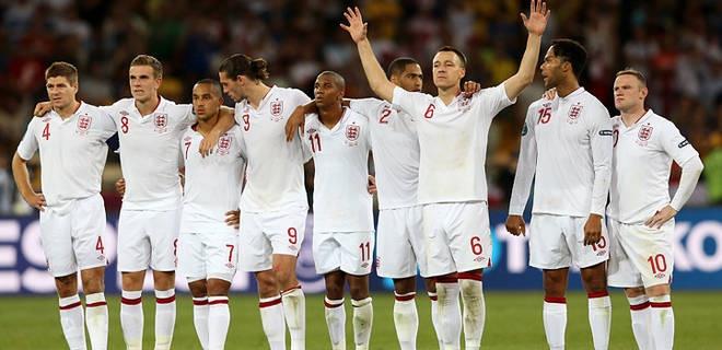 England players celebrate a win