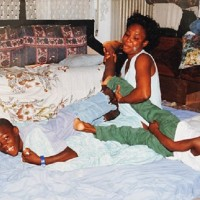 Balotelli with mother Rose and brother Enoch.