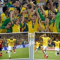 Brazil 3 : 0 Spain -Confederations Cup 2013 Final- Highlights