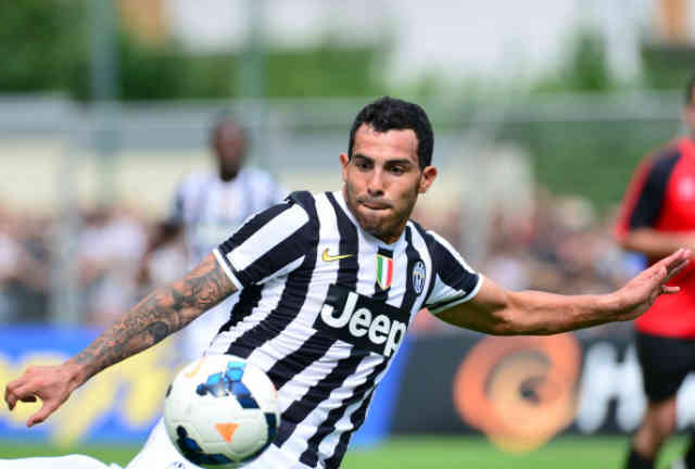 Carlos Tevez with his debut at Juventus
