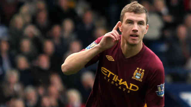 Edin Dzeko is believed to bring more quality to Manchester City