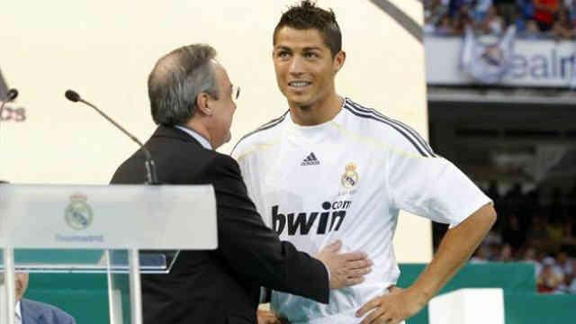 Florentino Perez shows praises to the star of Real Madrid, Cristiano Ronaldo