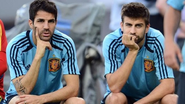 Former Manchester United defender Gerard Pique says there is no chance of Barcelona team-mate Cesc Fabregas leaving the club.