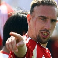 How did Franck Ribéry get his scar?