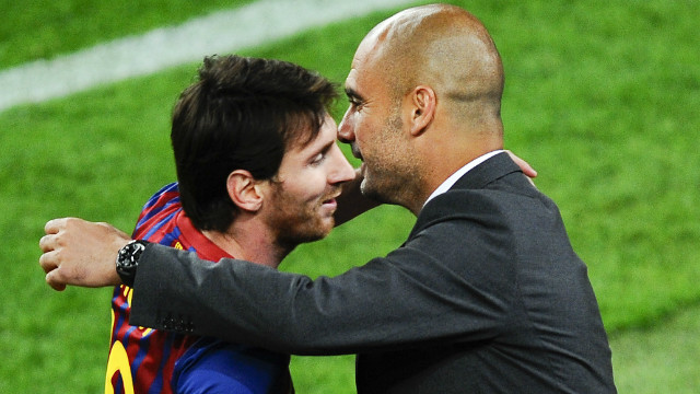 Guardiola believes that Messi is the only footballer to 'run faster with the ball than without.'