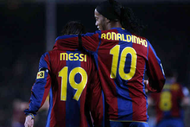 Lionel Messi praises Ronaldinho for making him the player that he is today