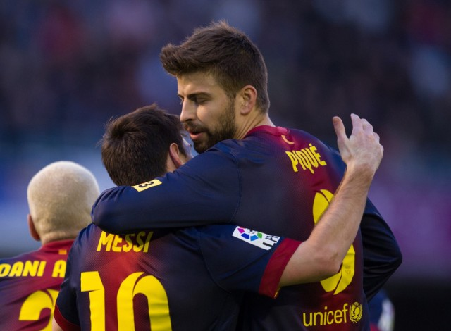 Messi is good friend with Pique, whom he calls 'Dad' because he has protected him from an early age.