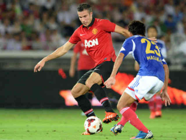 Robin Van Persie showing skills on the pitch
