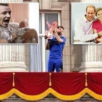 Images of Chelsea captain John Terry joining in Baby Royal celebrations go viral