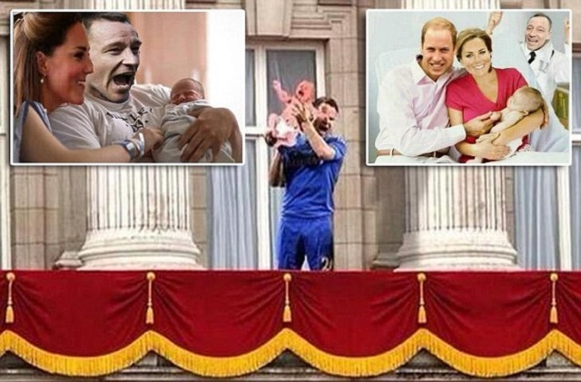 William, Kate the Royal baby, and John Terry. Chelsea captain is a viral sensation... again