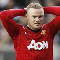 Manchester United's Wayne Rooney fighting frustration