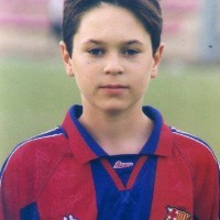 Iniesta, his picture when he was a child