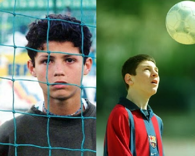 Cristiano Ronaldo and Lionel Messi when they were kids- they all started somewhere, so can you.