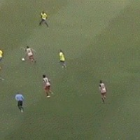 First goal of David Villa with Atletico Madrid-amazing strike from 30 yds