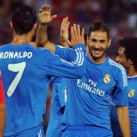 Granada-0-1-Real-Madrid-Benzema-scores-Ronaldo-congratulates-him..