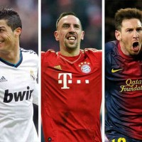 Ronaldo, Ribery and Messi will compete for best player in Europe