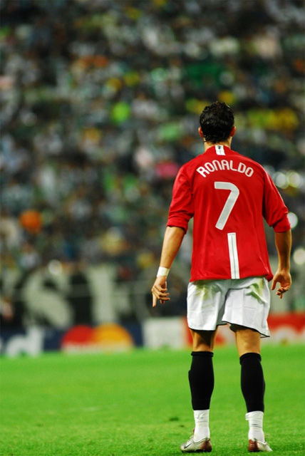 Cristiano used to wear number 7 at United