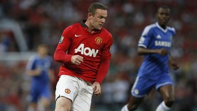 Manchester United's Wayne Rooney in action against Chelsea