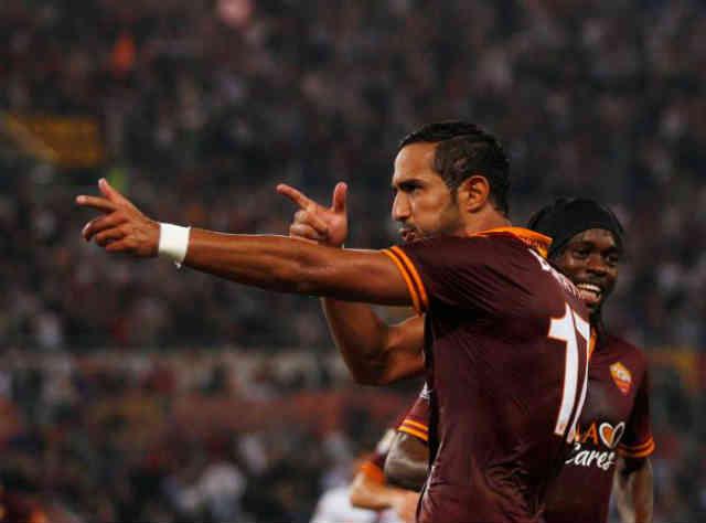 Benita celebrates his whopping goal