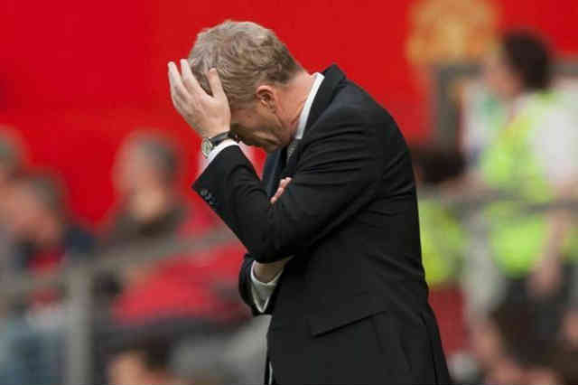 David Moyes in Distress with the defeat against West Brom