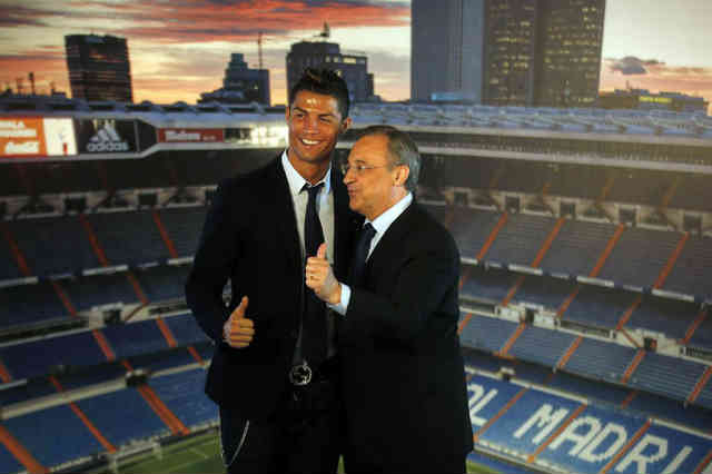 Florentino Perez ignites for CR7 in Real Madrid